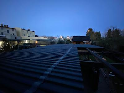 Neues Dach mit PVC Platten