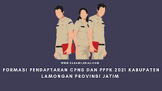 Formasi Pendaftaran CPNS dan PPPK 2021 Kabupaten Lamongan Provinsi JATIM Lulusan SMA D3 S1 S2