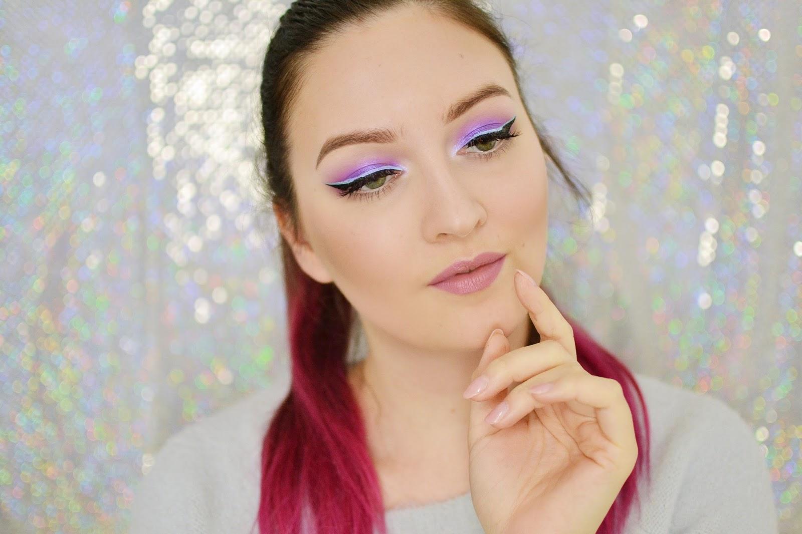 makijaż dzienny z kolorową kreską