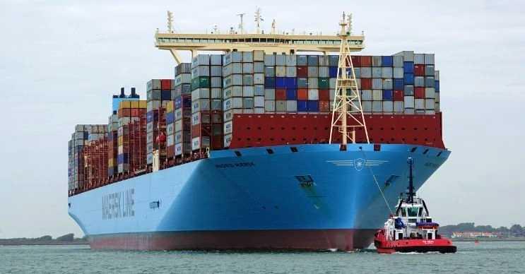 Madrid Maersk, Titanik'in bir buçuk katı büyüklüğündeki en büyük konteyner gemisidir.