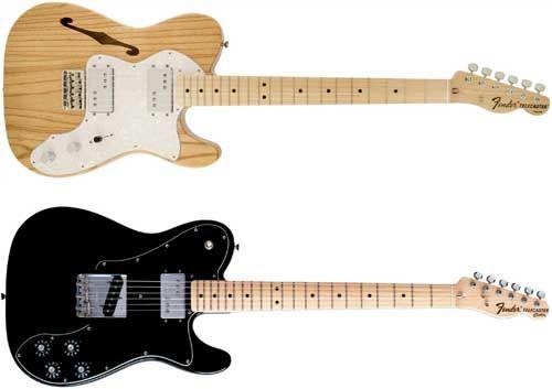 Información sobre los Modelos de Guitarra Eléctrica Thinline y Custom Telecaster