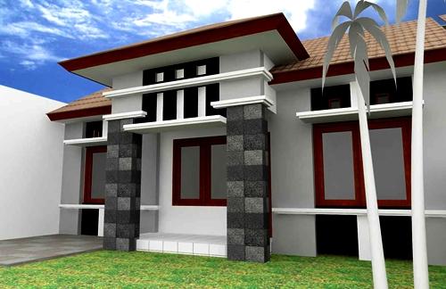 Rumah Impian Contoh Model Tiang Teras Rumah Minimalis