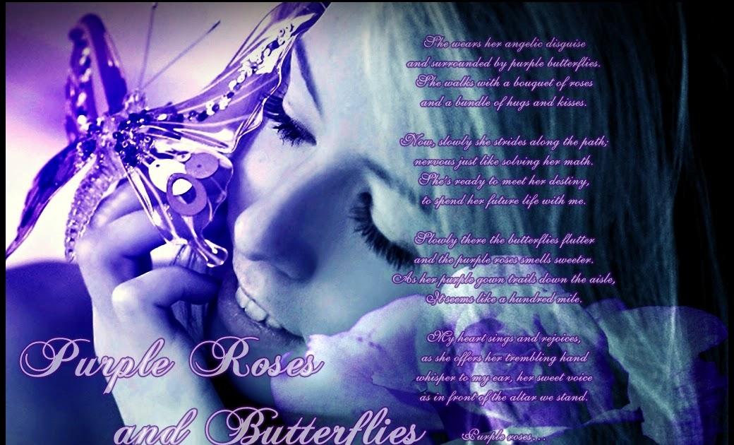 Purple Roses And Butterflies Th3 Craft3rs World
