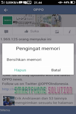 cara menghilangkan pengingat memori di hp oppo