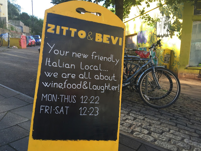Zitto and Bevi street sign on Nine Tree Hill, Bristol