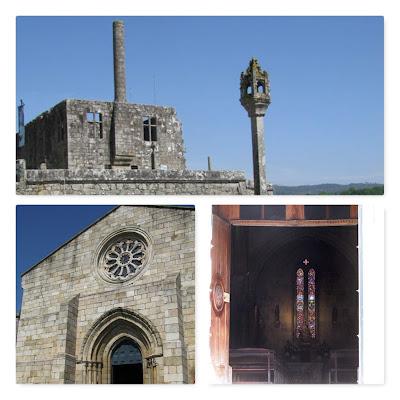 construção medieval e igreja romana em barcelos