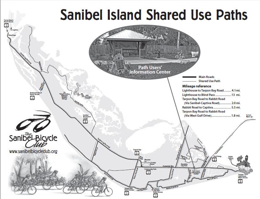 Sanibel Island Attractions Map: BikeWalkLee Blog: June 2013