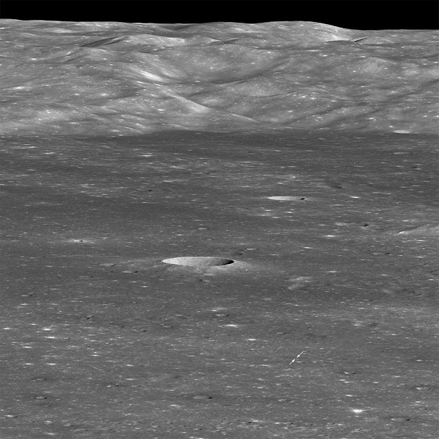 encontre a sonda chinesa Chang'e 4 nessa foto da LRO da NASA