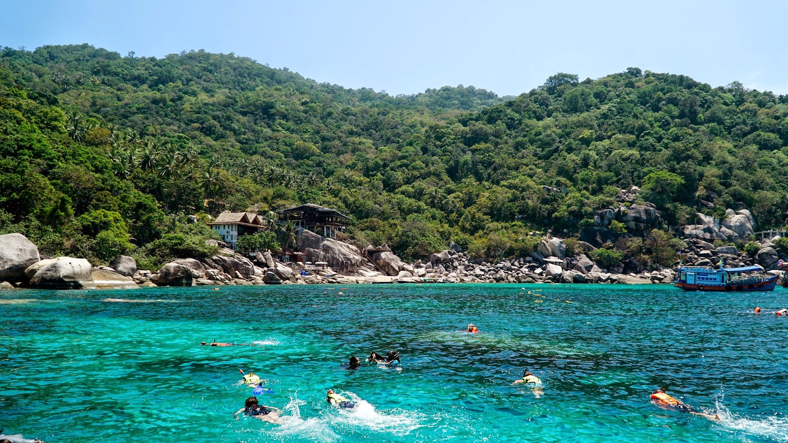 Mango Bay, the fourth and last snorkeling site before heading to Koh Nang Yuan