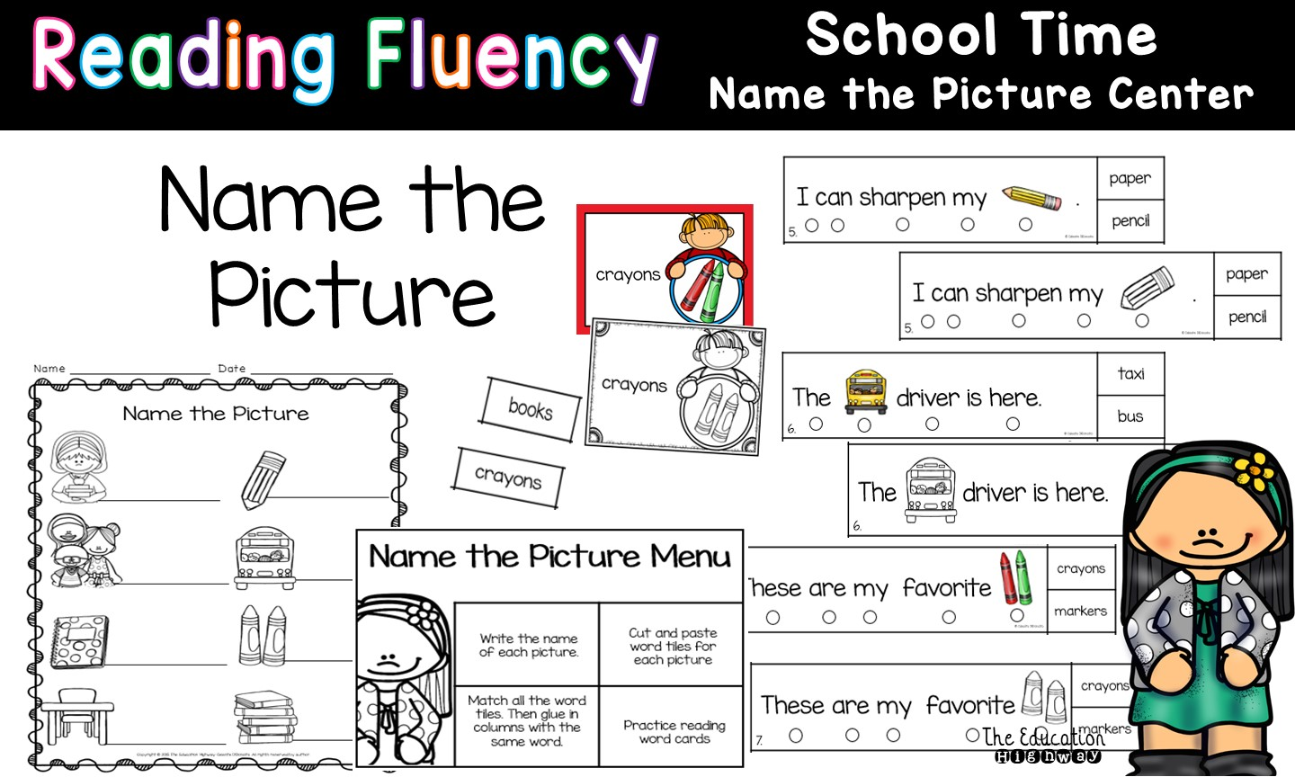 The Education Highway School Time Reading Fluency Passages