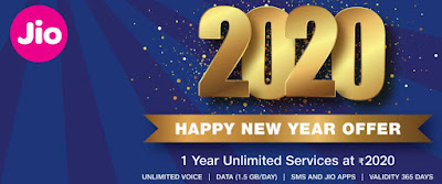 Jio 2020 New Year Offer