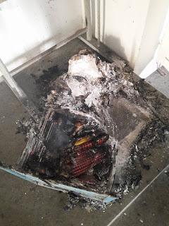 بنزرت/رفراف :مجهولون يحرقون قاعة دروس بمدرسة ابتدائية صور