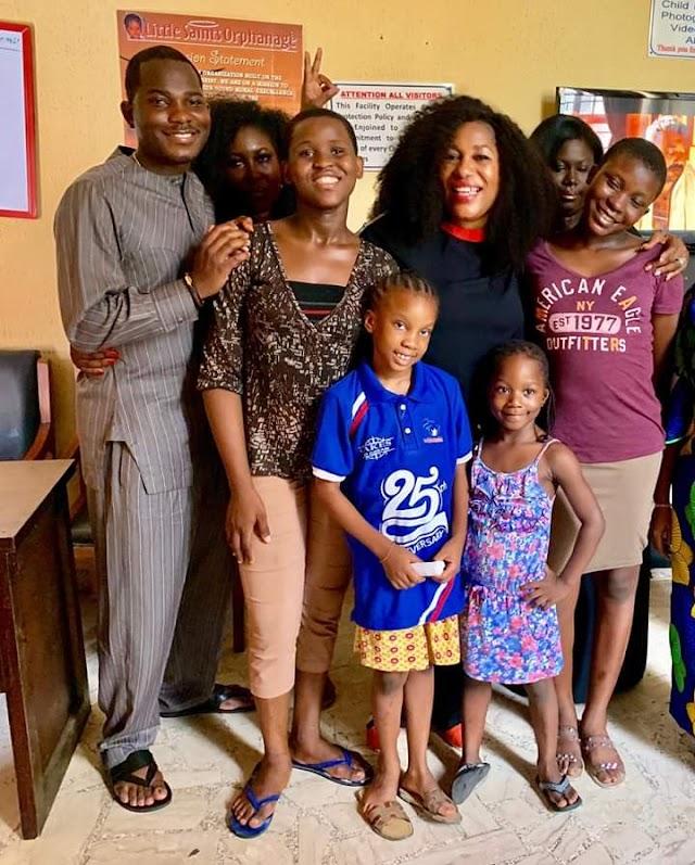 Popular Lagos Longrich Stockist,  Lola Adefusika, Celebrates Birthday, Visits Orphanage