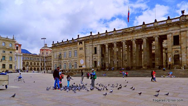 Parlamento da Colômbia, na Praça Bolívar, La Candelaria, Bogotá