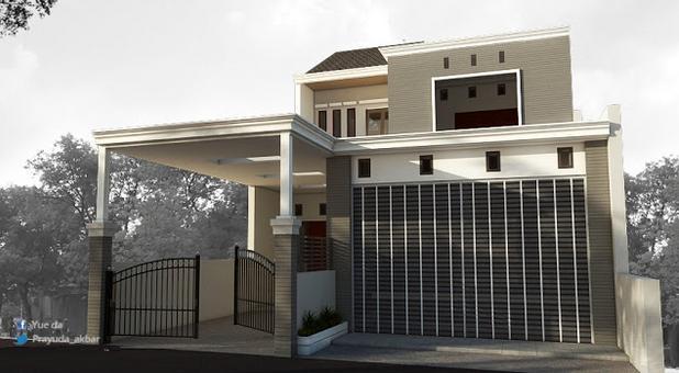 Gambar Desain 3d Perspektif Rumah Tinggal