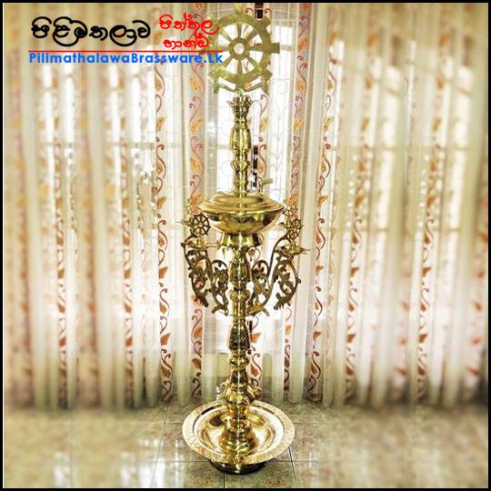 Brass Dolosmaha Pahana - දොලොස්මහ පහන (අතු පහන)
