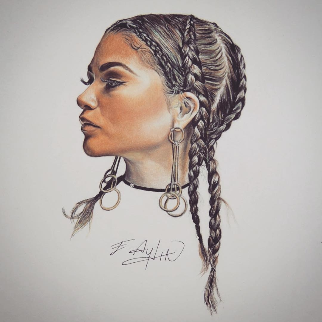 15-Zendaya-Emre-Aydin-Celebrity-Pencil-Drawings-in-Movies-and-TV-www-designstack-co