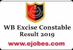 WBP Excise Constable Recruitment 2020 - Preliminary Result Out @freejobalert