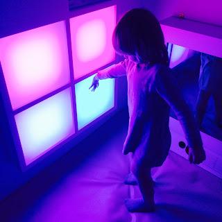 Jane dances in the lights