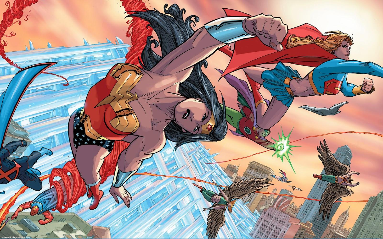 comic wallpapers wonderwoman supergirl action comics