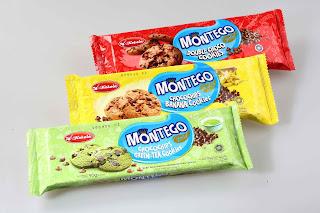 Terdapat 3 macam jenis Montego biskuit yang di pasarkan di luar negeri, yaitu montego varian double choco cookies, montego chocochips banana cookies, dan yang terakhir yaitu biskuit chocochips green tea cookies.
