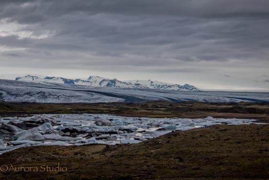 アイスランド南部の氷河