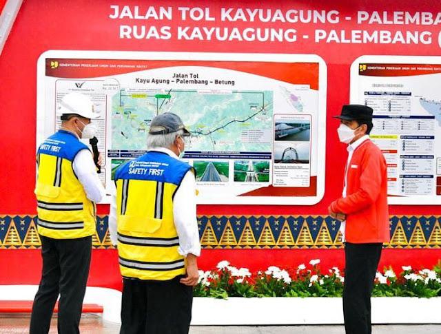 Jokowi Resmikan Ruas Tol di Sumsel. Kini dari Bakauheni ke Palembang Hanya 3,5 Jam Perjalanan
