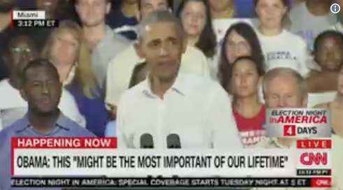 OBAMA UNHINGED: Mocks Hillary's emails, Ebola, Trump, migrant caravan — in under 90 seconds!