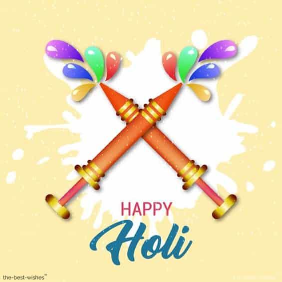 holi wishes card