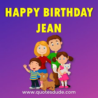Happy Birthday Jean Family