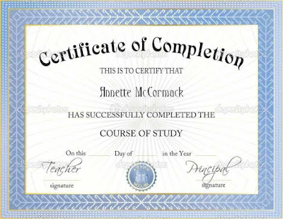 Completion Certificates Templates Free REq27
