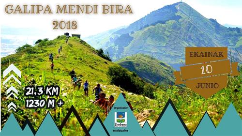 Zierbena celebrará la Galipa Mendi Bira el 10 de junio