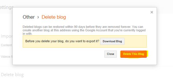 how-to-delete-blog-on-blogger