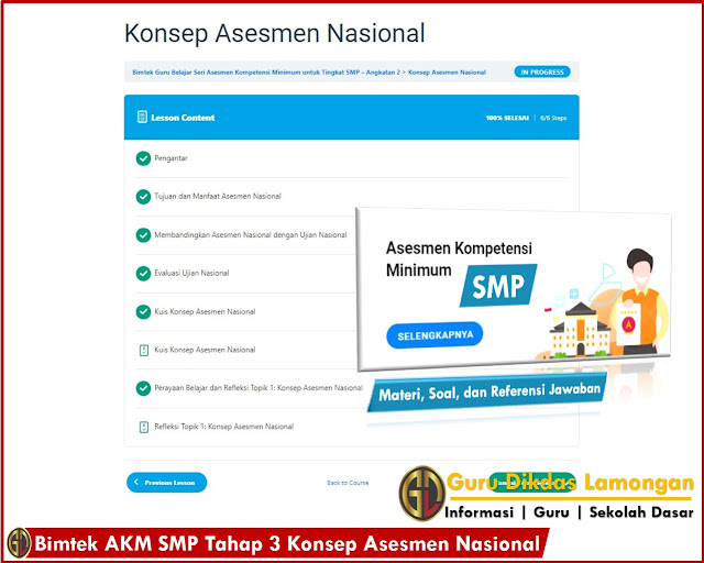 Bimtek AKM SMP Tahap 3 Konsep Asesmen Nasional