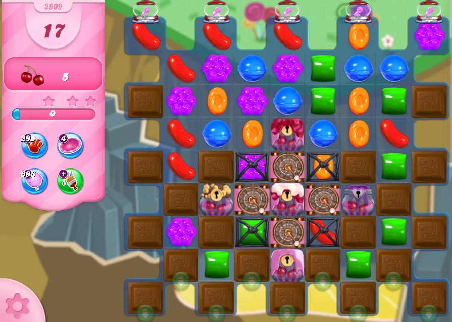 Candy Crush Saga level 2909