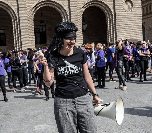 8m 2020 Zaragoza Feminista Performance Plaza Pilar Zaragoza