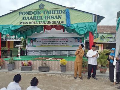 Kakankemenag Resmikan Pondok Tahfidz Qur'an MTsN Tanjungbalai