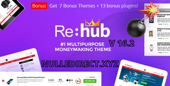 REHub 16.2 - Price Comparison, Multi Vendor Marketplace for Wordpress, Affiliate Marketing, Review Theme Nulled