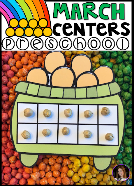 Are you looking for fun thematic spring centers that you can prep quickly for your preschool classroom?  The check out March Centers for Preschool!