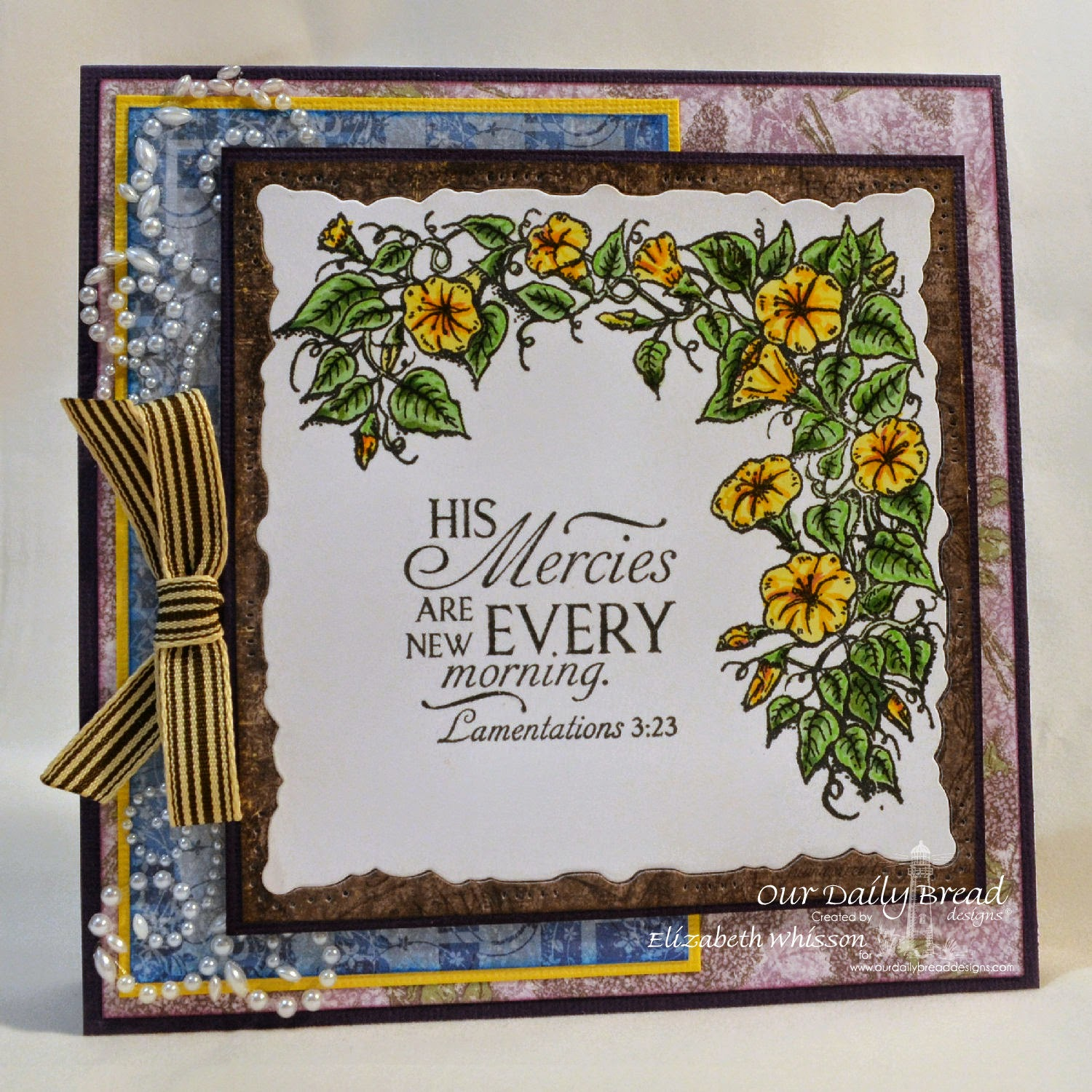 Elizabeth Whisson, Our Daily Bread Designs, Glory, ODBD Blooming Garden Paper Collection, ODBD Christian Faith Paper Collection