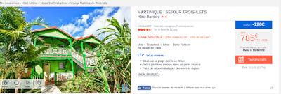 Bungalows vert Hotel Bambou pour un séjour en Martinique