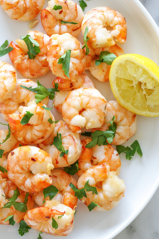 Easy Roasted Lemon-Garlic Shrimp – ready in under 8 minutes!