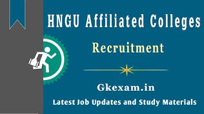 HNGU Affiliated Colleges Recruitment 2020