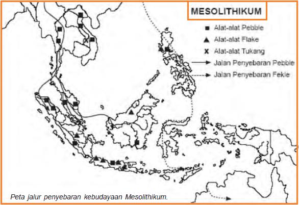 penyebaran kebudayaan Mesolitikum di Indonesia
