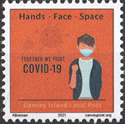 Canvey Island Local Post Fight Covid-19 stamp