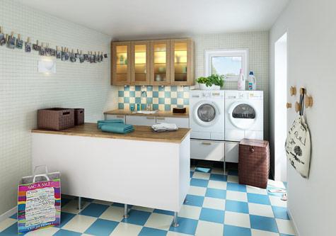 lavanderia decoração