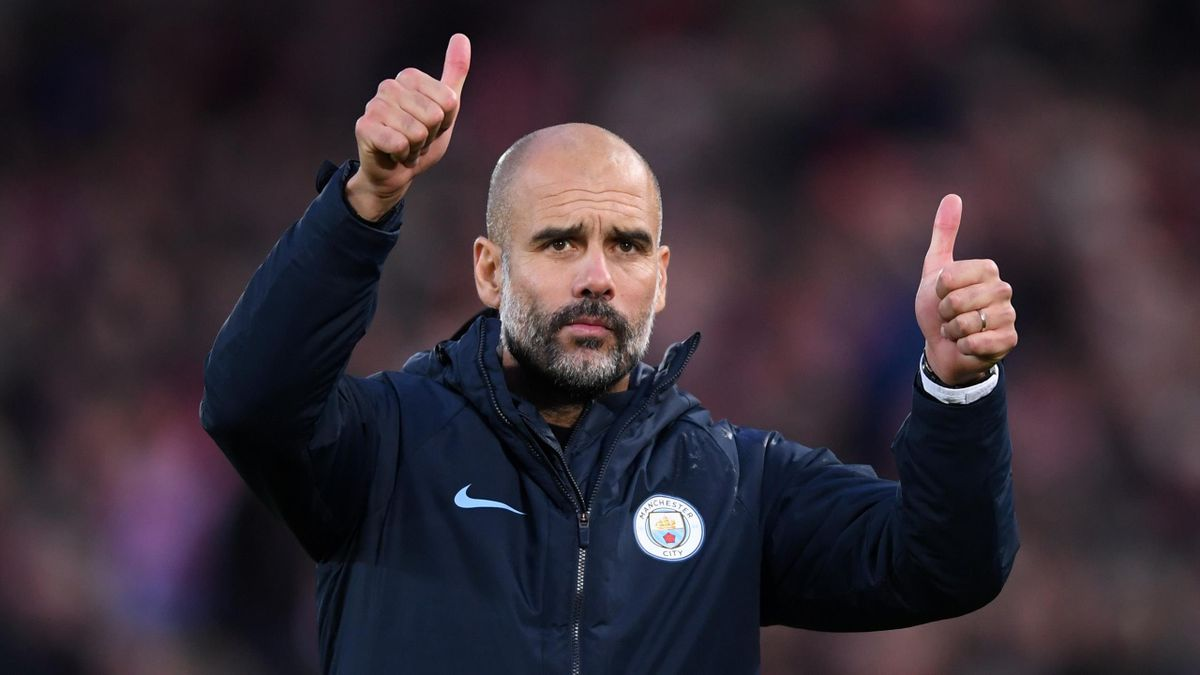 Pep Guardiola will be aiming to win a fourth successive league cup this Sunday