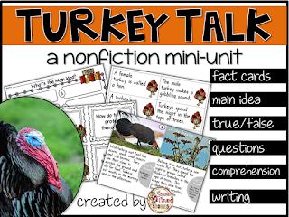 https://www.teacherspayteachers.com/Product/Turkeys-nonfiction-mini-unit-980457