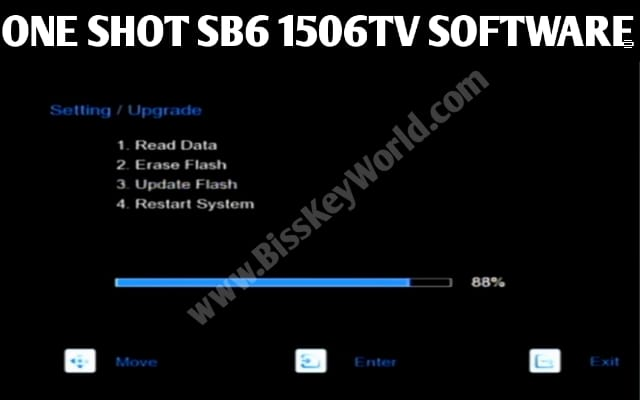 ONE SHOT SB6 PLUS RECEIVER SPECIFICATION AND NEW SOFTWARE WITH NEW OPTION XTREAM IPTV