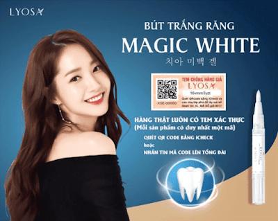 Bút tẩy trắng răng Hàn Quốc Lyosa Magic White